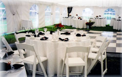 Rent wedding tents, outdoor chairs, wedding chair covers, fine china, tables, rent table cloths